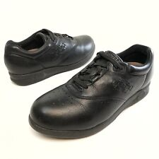 ✅❤️✅$ Supremes Softspots Marathon Black Leather Lace-up Wedge Shoes Women's 9.5