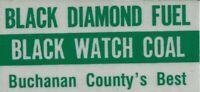 Black Diamond Fuel and Black Watch Coal Vintage Unused Mining Hard Hat Sticker