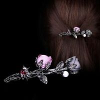 1pcs Hair Clip Rose Flower Butterfly Headwear Simulated Pearl Barrettes hot
