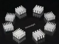 Silver Aluminium Heatsink For Motherboard DDR VGA RAM Memory IC Chipset Cooler