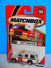 Matchbox 2001 Flame Eaters Series #28 Chevy Tahoe Fire White H2O Source