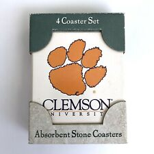 Clemson University Tigers Absorbent Stone 4 Coaster Set by AbsorbaStone