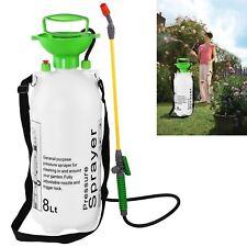8 Litre Garden Pressure Sprayer Weed Killer Chemical Fence Water Spray Bottle