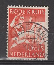 NVPH Netherlands Nederland 610 TOP CANCEL HOOGEZAND Rode Kruis zegel 1953