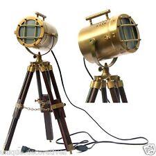 Antique Vintage Brass Lighting Nautical Marine Lamps Table Tripod Lighting