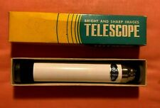 3 Section Terrestrial Hand Telescope Vintage Mint in Box Made Japan 30 X 30mm