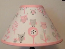 Owl Fabric Nursery Lamp Shade M2M Pottery Barn Kids Bedding Free Shipping