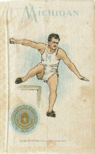 Univ. of Michigan * Murad Cigarettes College Series * Hurdles Silk 1910s Sports