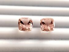 6 mm AAA+ Peach Morganite Square Cushion cut pair natural Earring Gemstones