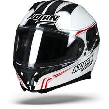 Nolan N87 Rapid N-Com Metal White 017 Motorcycle Helmet - New! Free P&P!