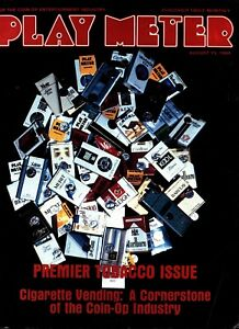 PLAY METER Magazine AUG 15 1984 - the Cigarette issue - Playmeter