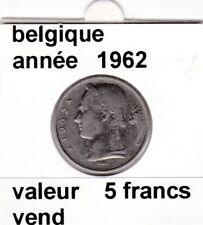 FB )pieces de baudouin  5 francs 1962  belgique