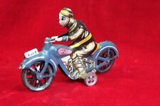 Tin Toy Motorcycle Rider Wind Up Friction Bike Toy Old Vintage Decorative PI-6