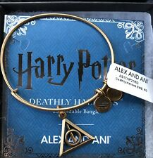 Authentic Alex and Ani Harry Potter, Deathly Hallows Gold Bangle Bracelet