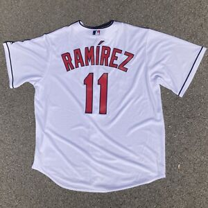NWT Cleveland Indians Jose Ramirez #11 White Jersey Majestic Cool Base Men's XL