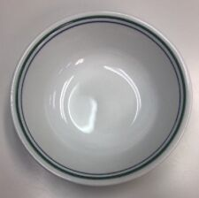 "Corelle 6 1/4"" Soup/cereal Bowl ~ Country Cottage ~ Blue & Green Stripes"