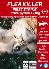 Flea Killer 24 uses, fast acting short term flea elimination for cats and dogs