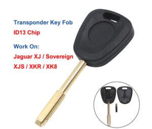 Fits Jaguar XJ XJ Sovereign XJS XKR XK8 1997-2002 ID13Transponder Car Key Fob