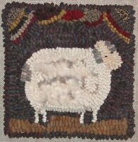 """""""WOOLY SHEEP""""~RUG IN A DAY LINEN PATTERN~PRIMITIVE RUG HOOKING"""