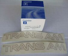 NOS 82-92 Trans Am Firebird GOLD fender decals decal original GM bumper