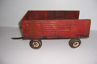 VINTAGE ERTL FORD TRACTOR WAGON TRAILER PRESSED STEEL TOY TRUCK