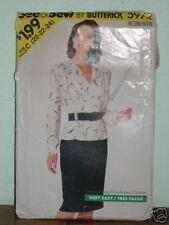 SEE+SEW Butterick Pattern 5972 Womens 20-22-24 Blouson TOP + SKIRT Vintage Uncut
