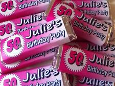 12 x Personalised Wrappers Chocolate Birthday Favours 18th 21st 30th 40th 50th