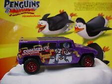 2012 MATCHBOX the Penguins Madagascar∞HUMMER H2 SUV Concept∞Purple∞loose