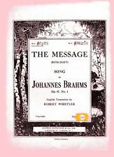 """THE MESSAGE SONG - BRAHMS - SHEET MUSIC - KEY OF """"Bb"""""""