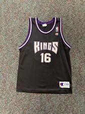 Champion Vintage Youth Peja stojakovic Sacramento Kings jersey black OG retro