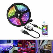 USB 5V Powered 5050 SMD Tape RGB LED Strip Light Flexible Waterproof 1M/2/3/4/5M