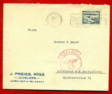 Latvia Baltics Olympic Cancels on Stamps and 1939 Envelope 624