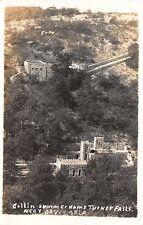 Real Photo Postcard Collin Summer Home, Turner Falls near Davis, Oklahoma~109582