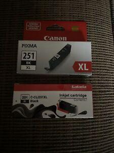 Canon CLI-251 BK XL 251 XL Black Ink Cartridge GENUINE + 1 Extra (not Genuine)