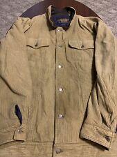 Vintage Chaps Ralph Lauren Corduroy Leather Collar Mens Thick Coat Jacket XL
