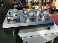 More details for sunnex stainless steel industrial catering bain marie