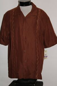 NEW NWT CUBAVERA Mens 2XL XXL Embroidered Button-up shirt Combine ship Discount