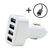 USB Car Charger Power Adapter 4.1Amp 4 Ports For Nokia X2 Dual SIM X2-00 X2-01