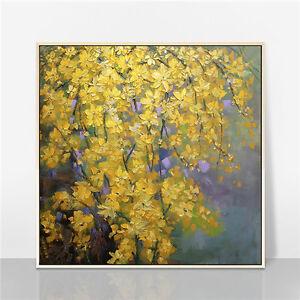 YA1283 Home decor art 100% Hand-painted oil painting Flower Unframed