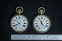 RARE! TWO (2) Robinson & Co Singapore pocket watch c. late 18C - early 19C.