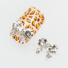Lot 10Pcs 3D Bowknot Bling Rhinestone Nail Art Tips Cellphone Decoration Sticker