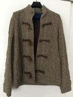 Tommy Hilfiger Men's Beige Suede Elbow Patches Knit Cardigan padded Jacket L