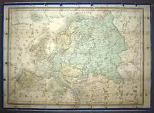 Puzzle géographique en bois du continent de l'Europe fin 19eme siècle