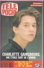 ▬►Télé Poche 1310 de 1991 CHARLOTTE GAINSBOURG_DANA DAWSON_ADELINE HALLYDAY