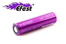 New Efest IMR 18650 2600mAh 3.7V 40A High Drain Flat Top Rechargeable Battery