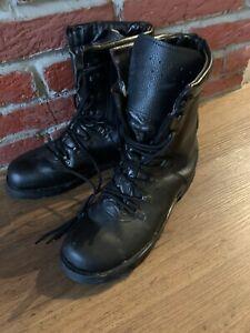 Mil-Tec Einsatzstiefel Security Herren Bundeswehr Boots Gr 45 Leder Schwarz