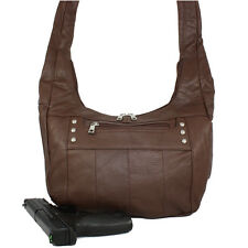 Concealed Carry Purse Genuine Leather Locking CCW Gun Bag