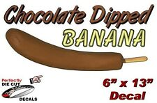 """Choc Dipped Banana (With Text) 6''x13"""" Decal for Food or Ice Cream Cart Signage"""