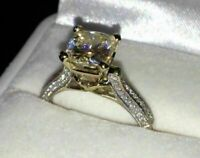 2.45 ct Lab created Solitaire Engagement Silver Ring VVS1/D