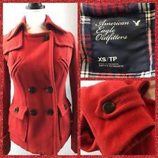 American Eagle Outfitters Women's Pea Coat Red Wool Blend Jacket Sz XS/ TP